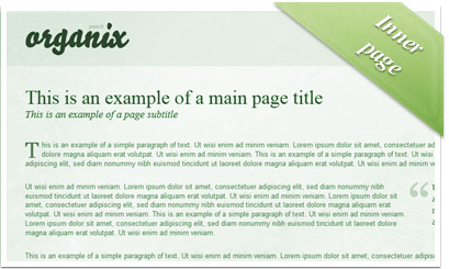 Organix - Herb / Static inner page